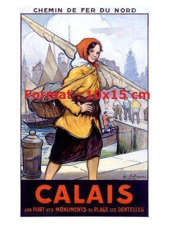 Calais affiche chemin de fer