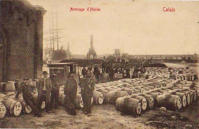 Calais arrivage d huiles et les quais
