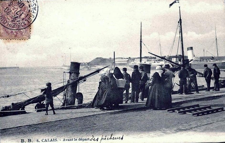 Calais avant le depart des pecheurs