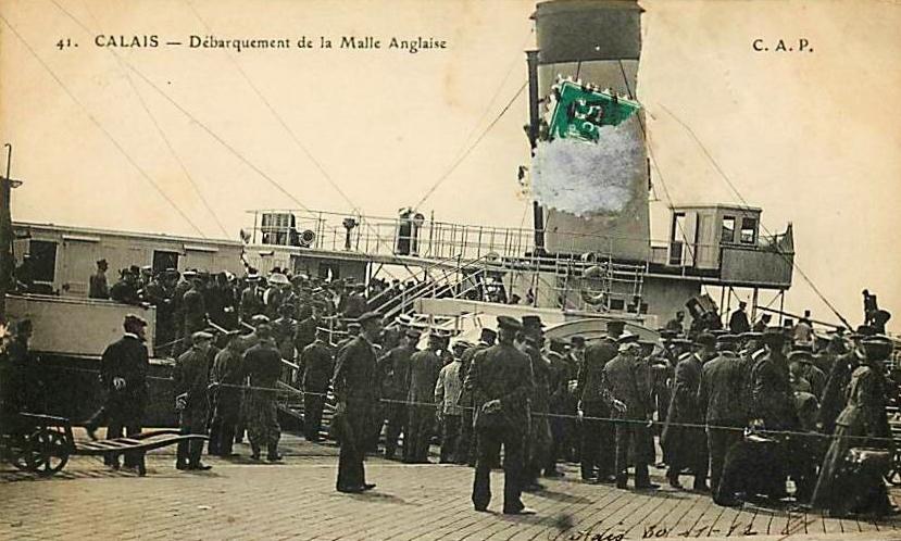 Calais debarquement de la malle anglaise