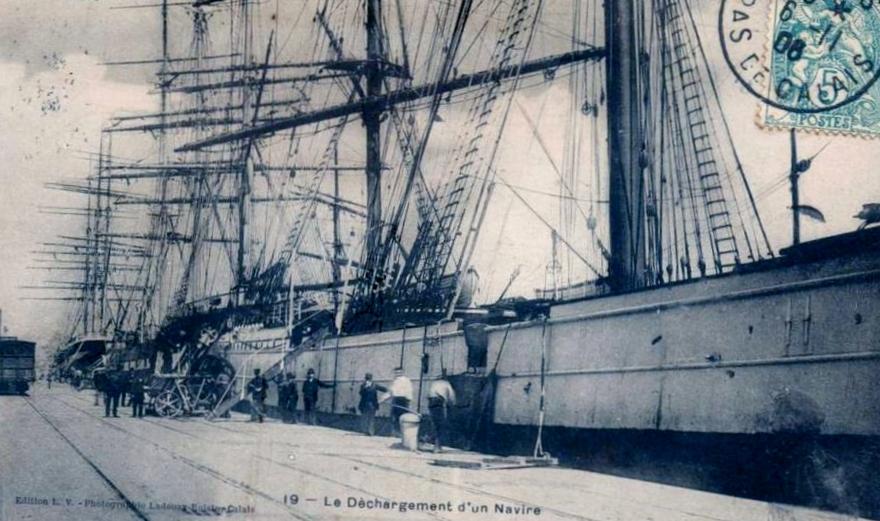 Calais dechargement d un navire