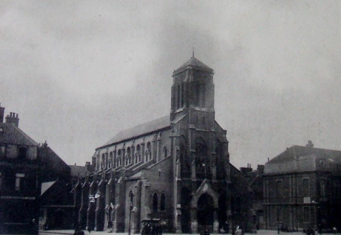 Calais eglise du courgain en 1906
