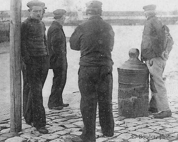 Calais groupe de pecheurs