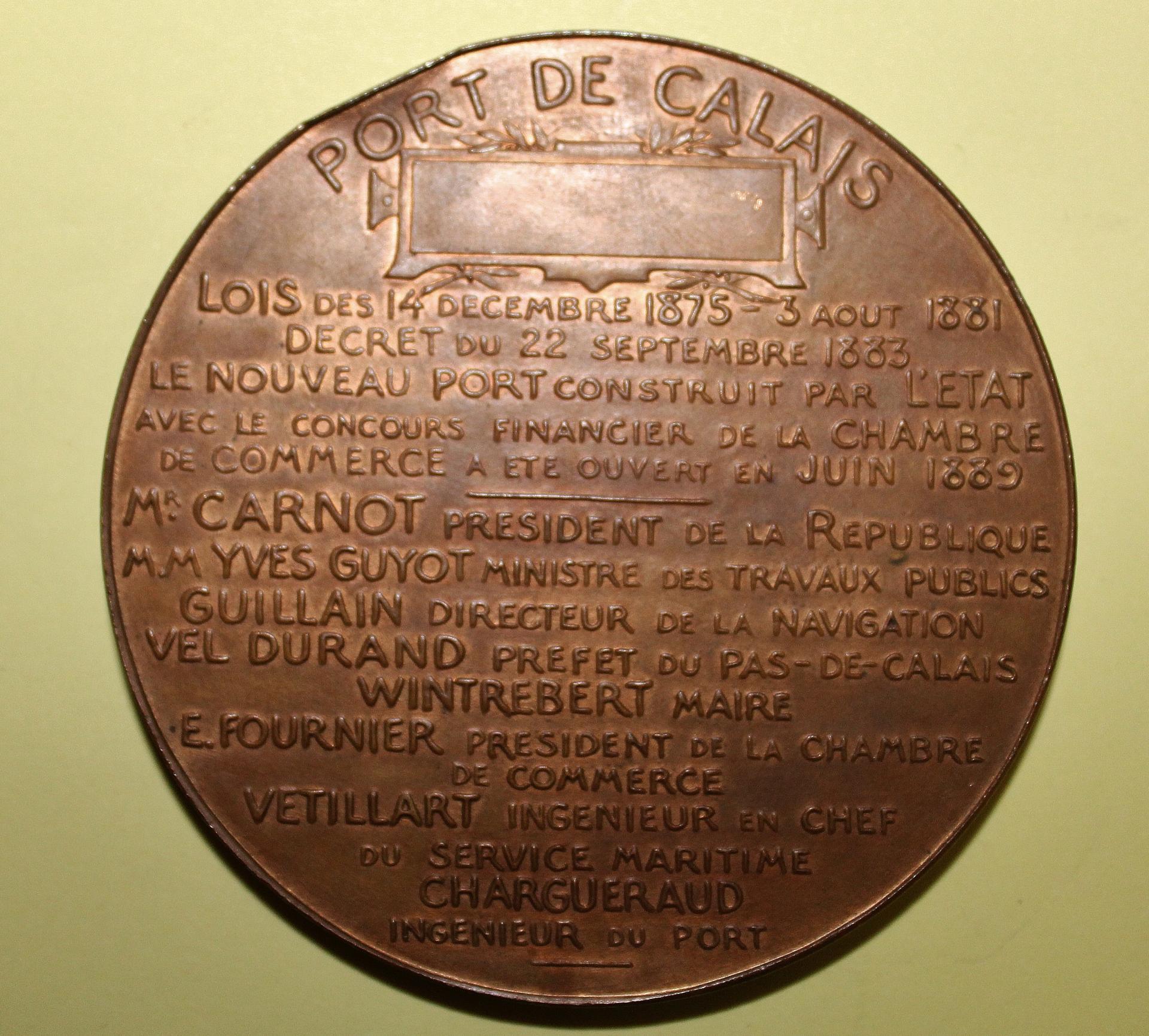 Calais inauguration du nouveau port verso