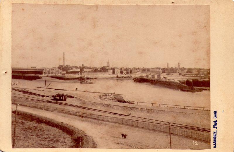Calais le port par landouzy fin 19eme