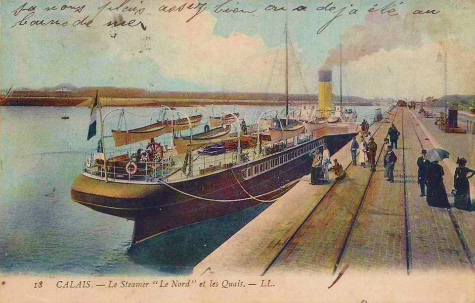 Calais le steamer le nord colorise