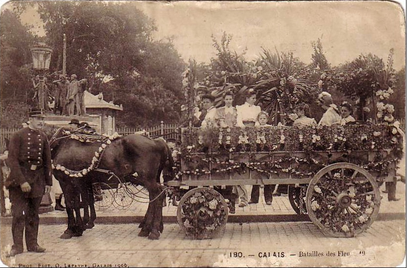 Calais les batailles de fleurs en 1906