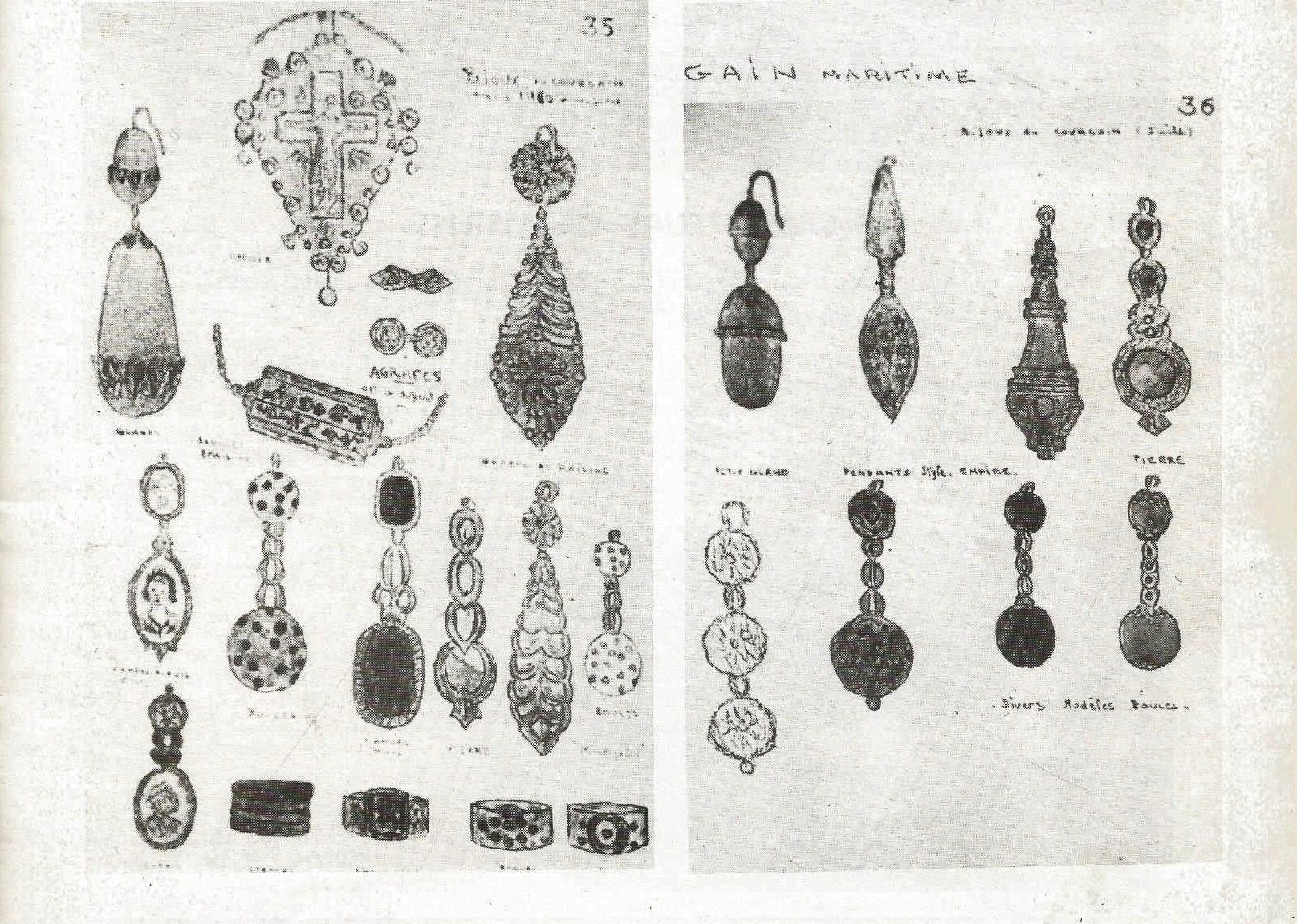 Calais modeles de bijoux du courgain maritime de calais