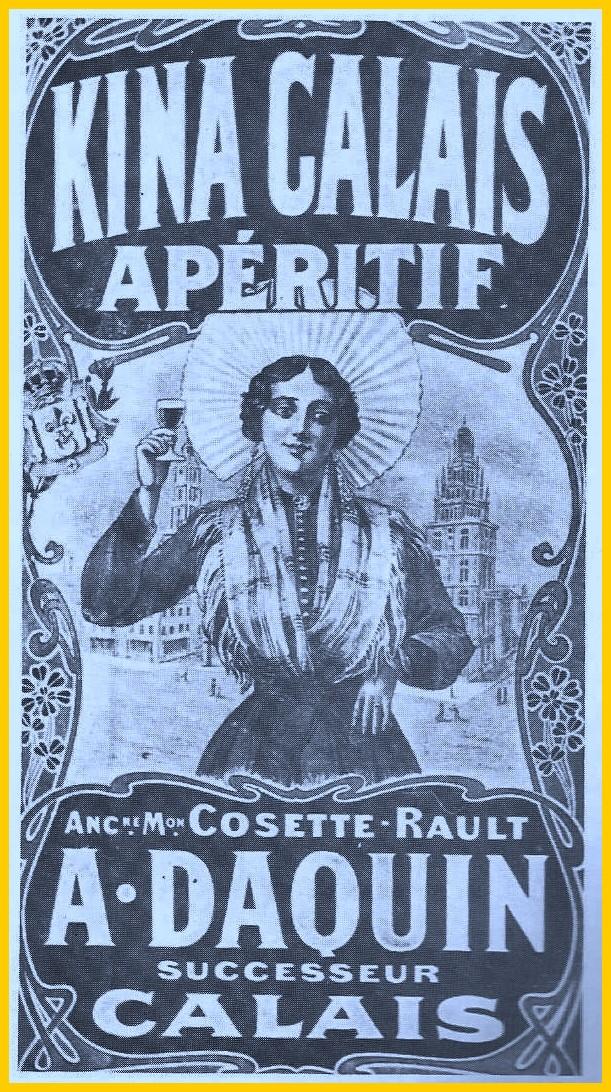Calais publicite pour aperitif a base de quinquina encadre