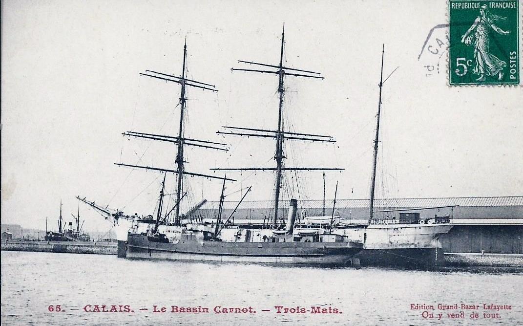 Calais un trois mats au bassin carnot