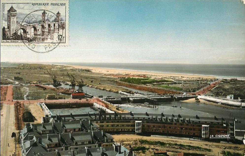 Calais vue sur le courgain moderne