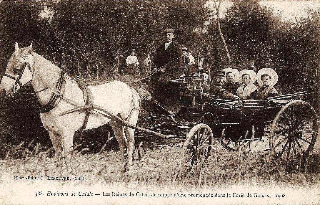 De retour du bois de guines en 1908