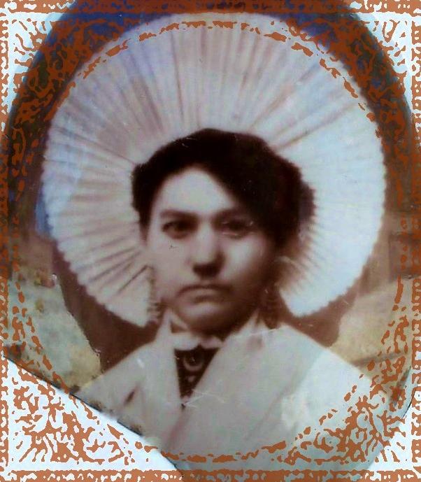 Elisabeth lebon 1875 1965 epouse de louis mouchon encadre