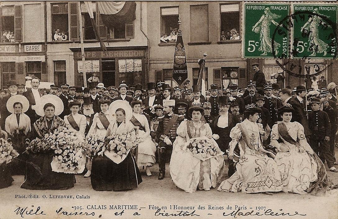 Fete honneur reines de paris 1907