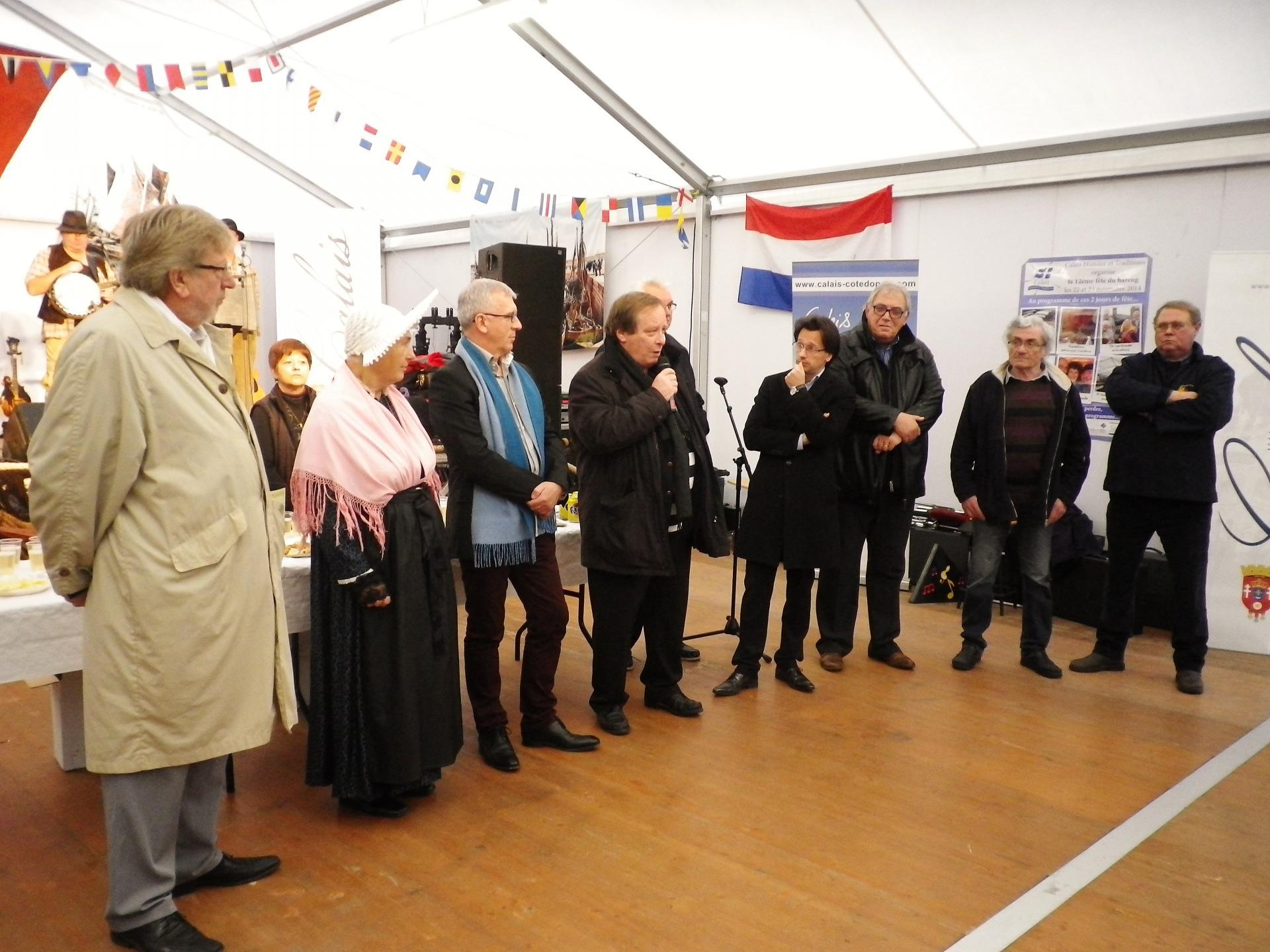 Inauguration fete du hareng calais 2014