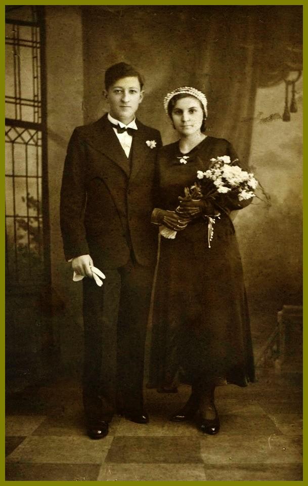 Jeunes maries courguinois 1933 encadre